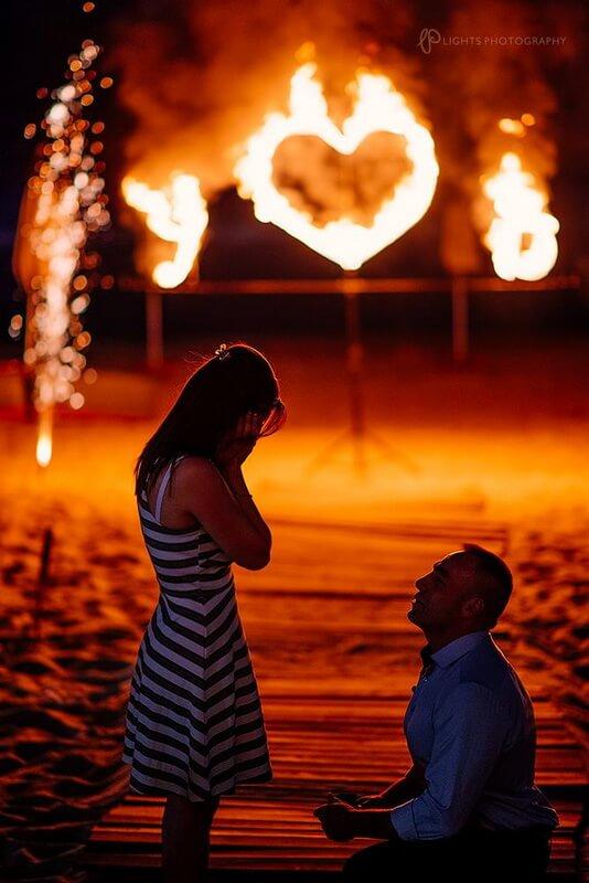 Огнено Шоу Дивинитас за Романтично предложение за брак